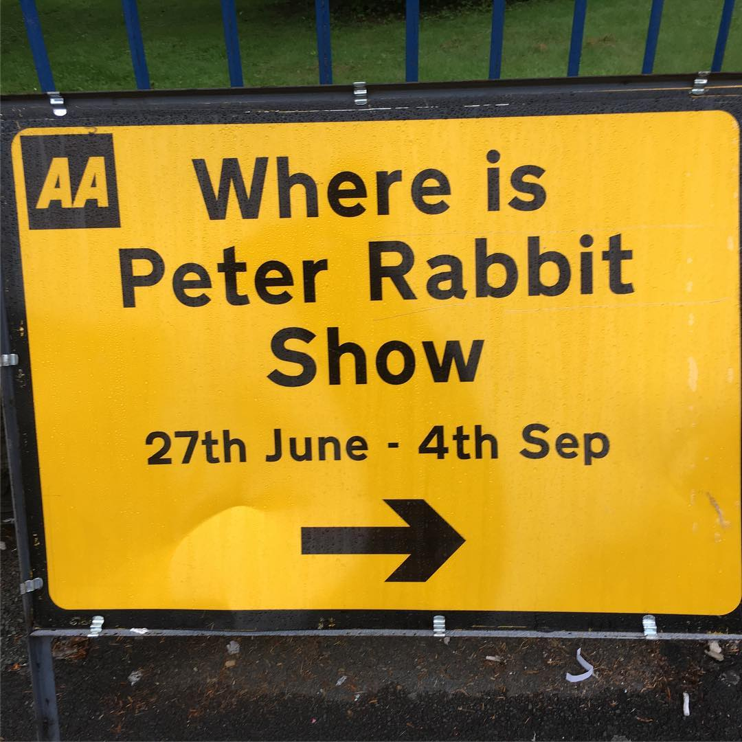 I found him! Kudos to @worldofbeatrixpotter for a delightful show! A real treat!