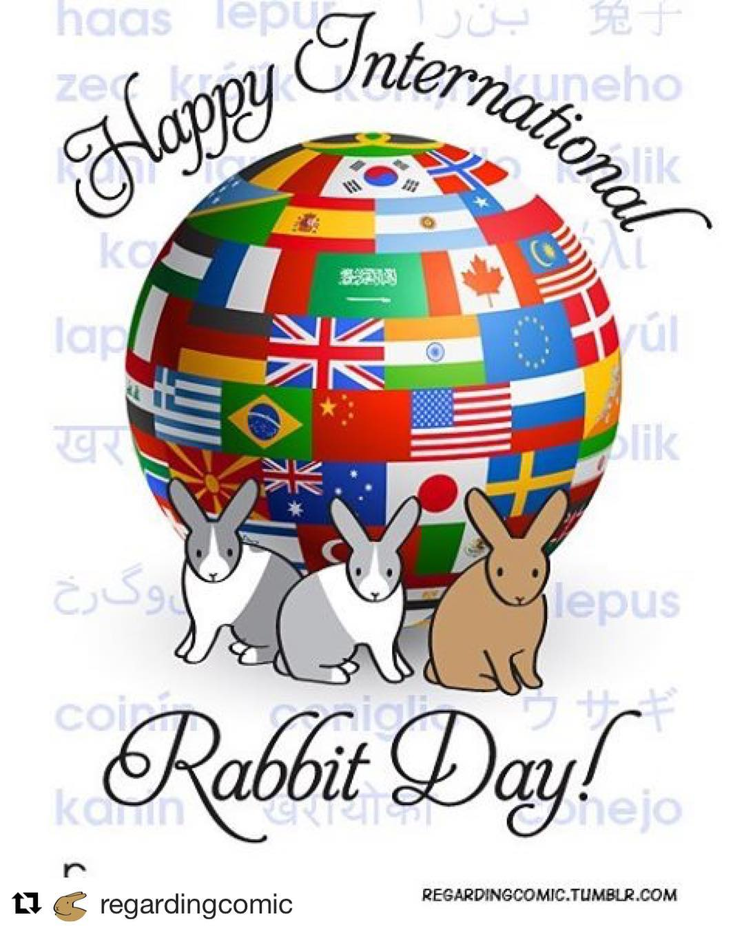 Happy international Rabbit Day everybody! Reposting this lovely post from @regardingcomic . Be sure to check out regardingcomic.tumblr.com
