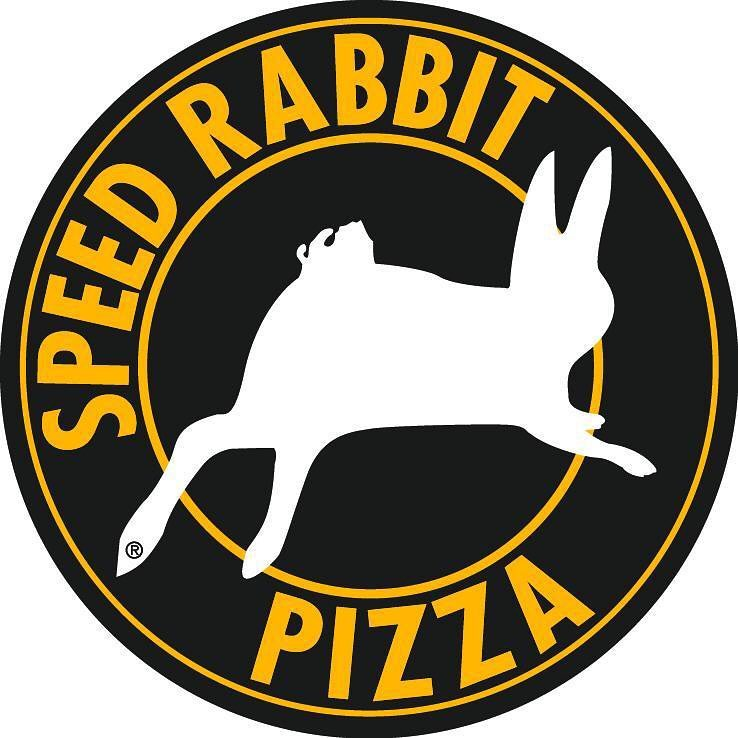 Ce me fait plaisir que les lapins ont trouvé un place sûr un logo pour un chaine restaurant ;) Speed Rabbit Pizza is a French pizza fast food chain that is headquartered in Paris. It was founded in 1991 and was modeled after US American fast food chains that offered express home delivery.  Due to it's home delivery business model, Speed Rabbit Pizza's management selected a running rabbit to express the company's focus on speedy deliveries.