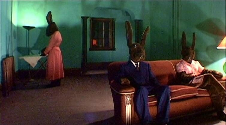 """With the epic return of Twin Peaks, one has to discuss the fact that rabbits have played a prominent role in David Lynch's body of work throughout the years.  The most notable piece of rabbit work is the surrealist sitcom """"Rabbits"""" (2002). It is hard to explain, but it is awesome. The tag line itself is crazy cool: """"In a nameless city deluged by a continuous rain... three rabbits live with a fearful mystery""""  David Lynch says it is a nine-episode series, but there are only eight . When Lynch accepted his life time achievement award at the Stockholm film festival in 2003, I asked him (in a Q&A) where the final ninth episode was. Lynch, of course, avoided the question.  The Rabbits footage and storyline were also interwoven with Lynch's 2007 feature film Inland Empire. Pretty cool!  As for Twin Peaks, we have yet to see if the chocolate bunnies will help Hawk to find """"what is missing""""."""